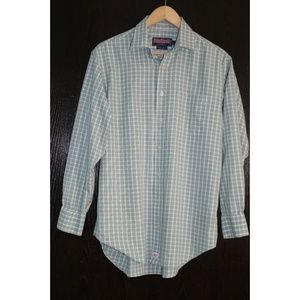 Vineyard Vines Green Blue Plaid Murray Shirt SZ M